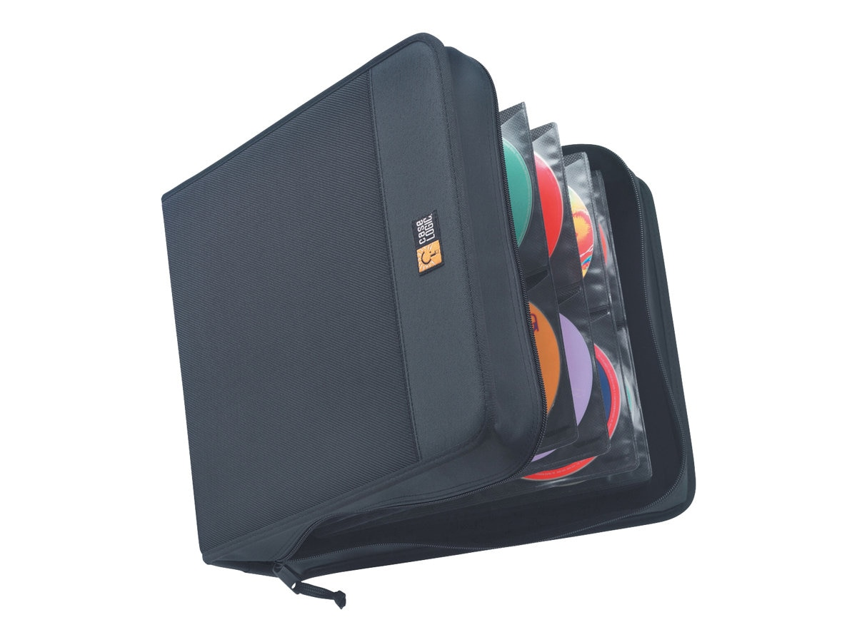 Case Logic CD Wallet; 208 Disc Capacity - Black Nylon, CDW-208, 223267, Media Storage Cases