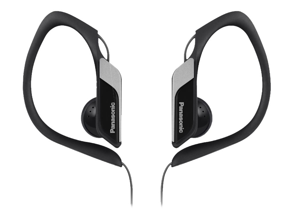 Panasonic HS34 Water Sweat Resistant Sports Clip Earbud - Black