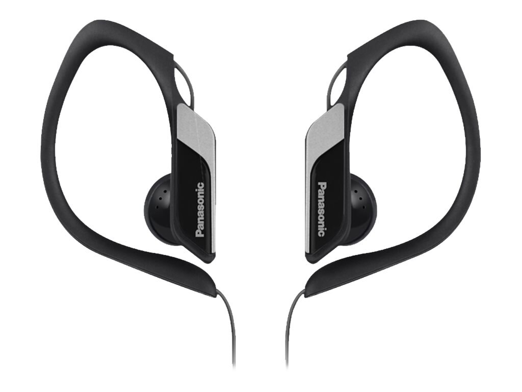 Panasonic HS34 Water Sweat Resistant Sports Clip Earbud - Black, RP-HS34-K, 21085630, Headphones