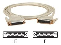 Black Box DB25 Extension Cable (F-F), Beige, 15ft