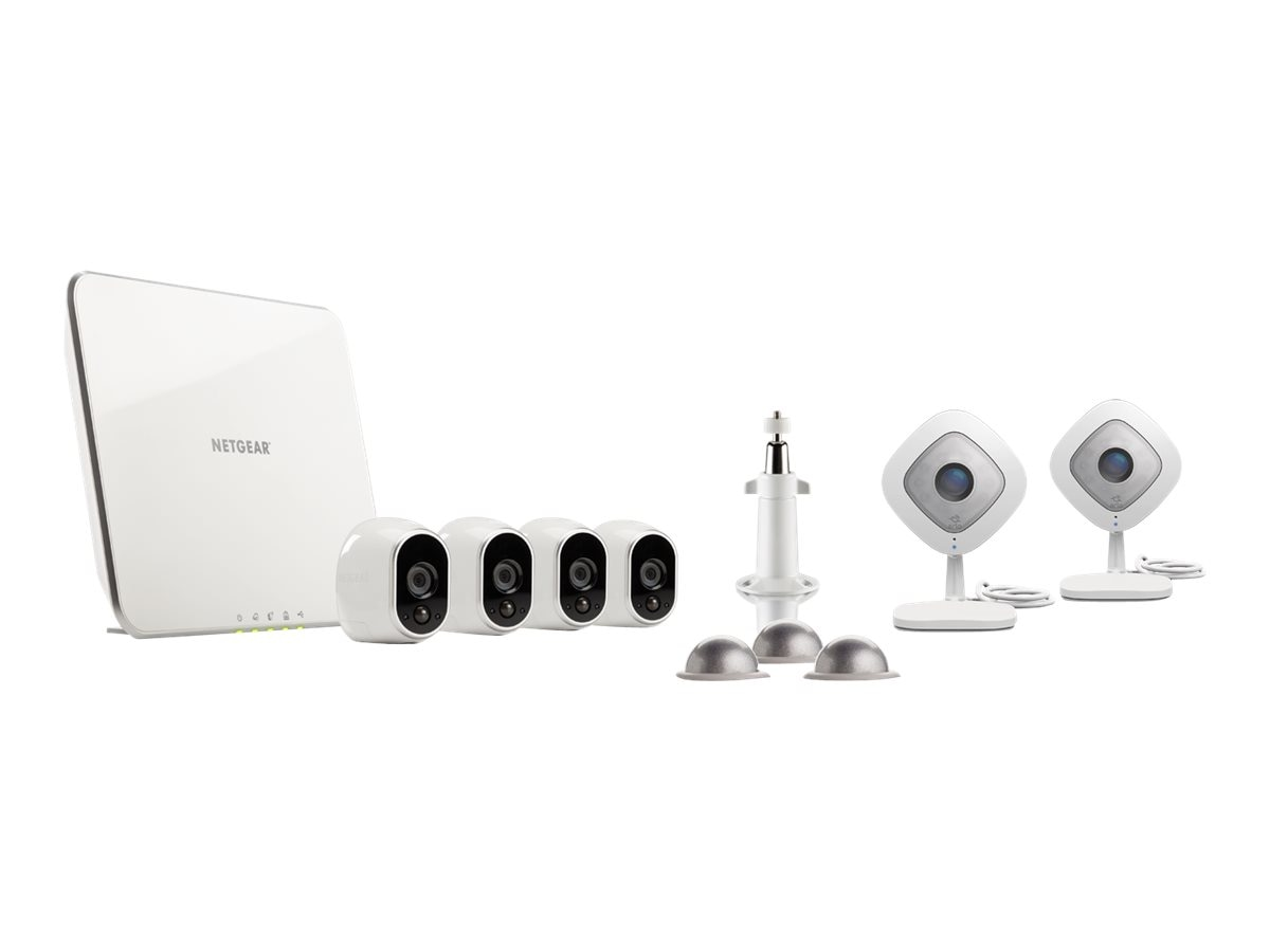 Netgear Arlo Security Camera Kit – 4 Arlo Wire-Free & 2 Arlo Q Cameras (VMK3500), VMK3500-100NAS