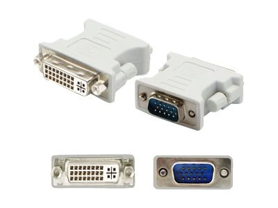 Add On VGA to DVI-I M F Adapter, White