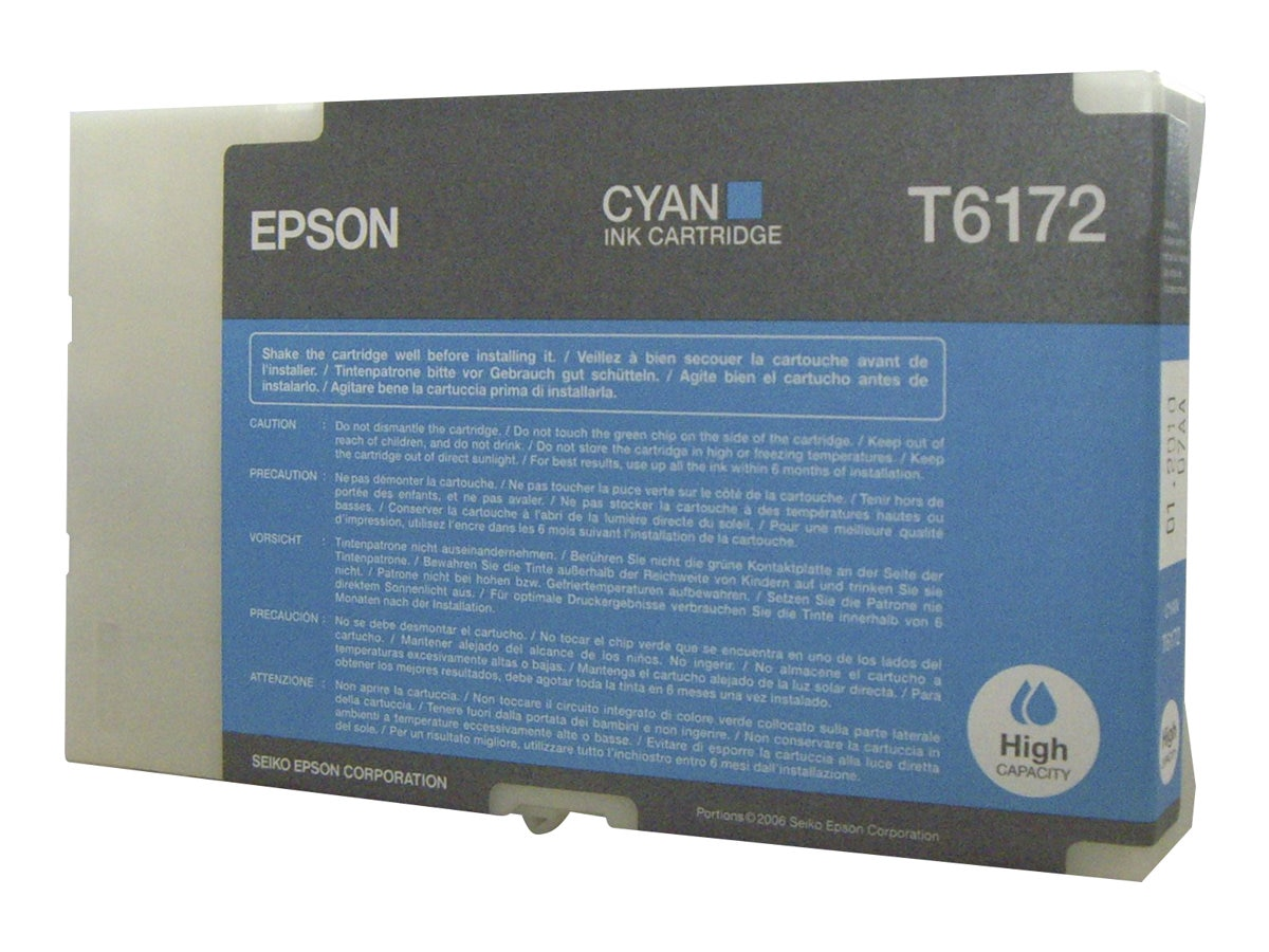 Epson Cyan High Capacity Ink Cartridge for B-500DN Color Business Ink Jet Printer, T617200