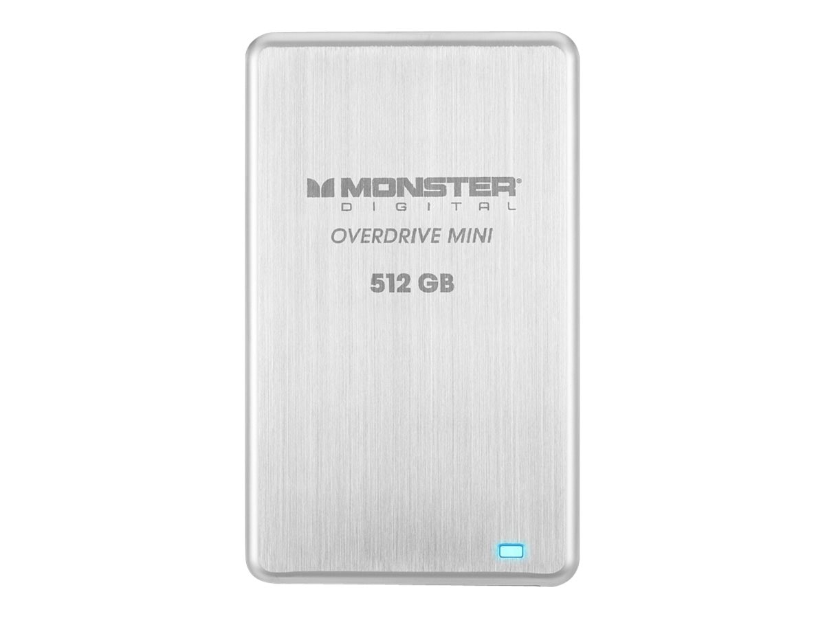 Monster 512GB OverdriveMini USB 3.0 External Solid State Drive, SSDOM-0512-A, 18461921, Solid State Drives - External