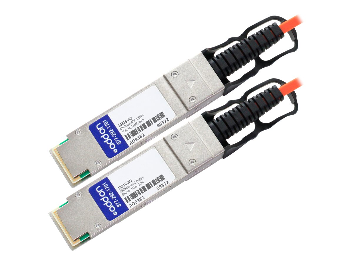 ACP-EP Extreme Networks 40GBase-AOC QSFP+ to QSFP+ Direct Attach Cable, 20m, 10316-AO