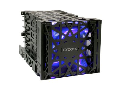Icy Dock Black Vortex 3.5 HDD in 3 Cooler, MB074SP-B, 16575503, Hard Drive Enclosures - Multiple