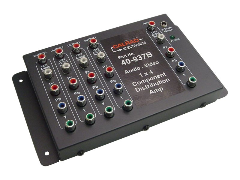 Calrad 1x4 Component Stereo Audio Video Distribution Amplifier, 40-937B