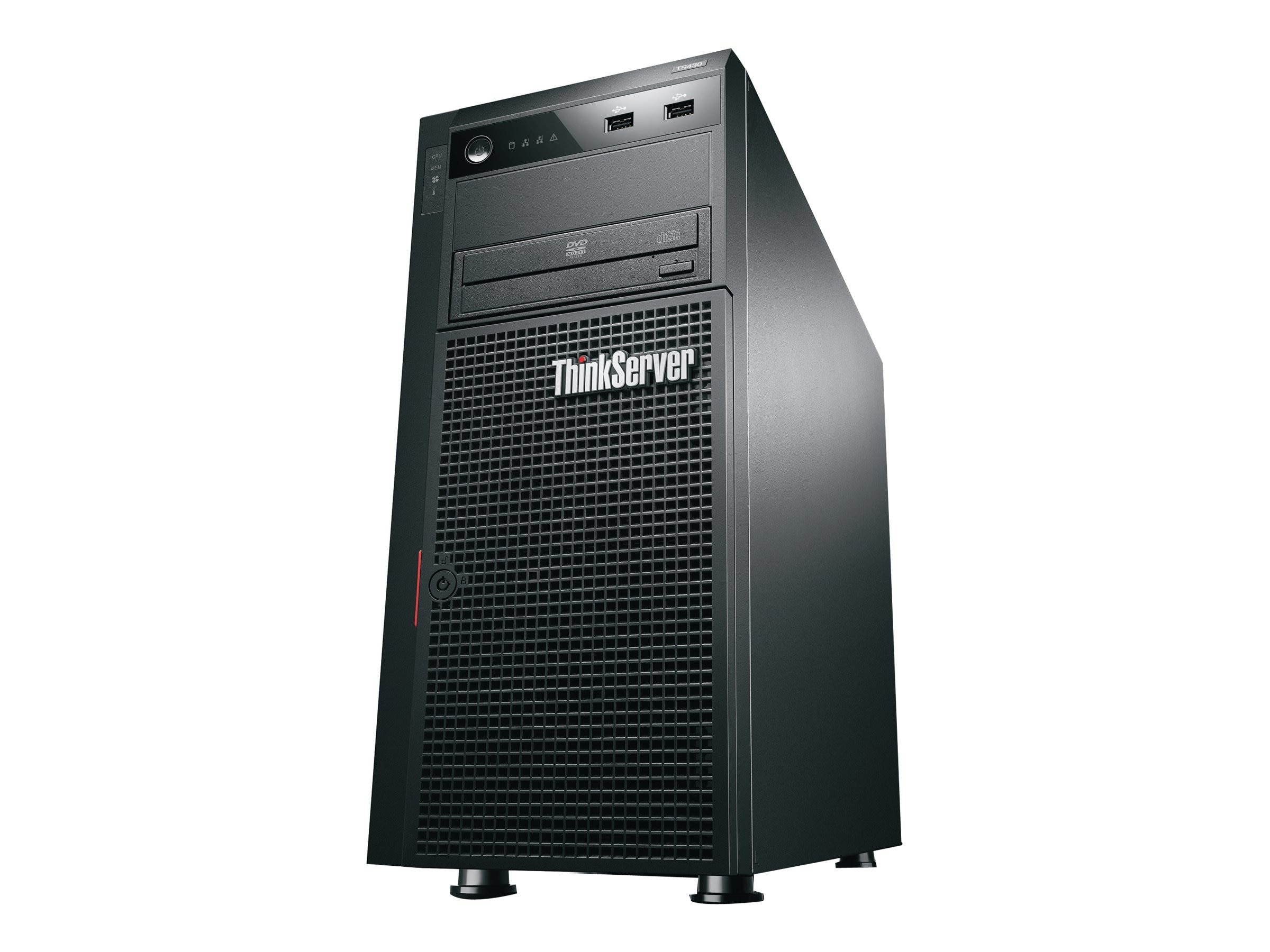 Lenovo TS ThinkServer 430 Tower Core i3 3.3GHz 4GB 4x3.5 HS SATA Bays