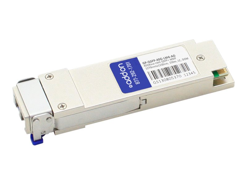ACP-EP QSFP+ 150M LX4 LC XCVR COMPAT TAA XCVR 40-GIG LX4 DOM LC Transceiver for Dell, GP-QSFP-40G-LM4-AO