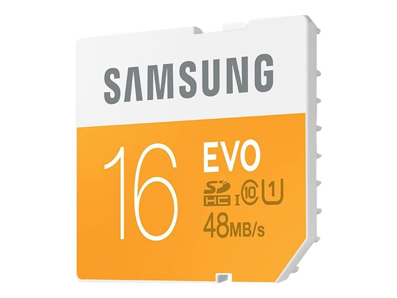 Samsung 16GB SDHC EVO Memory Card, Class 10, MB-SP16D/AM, 18790881, Memory - Flash