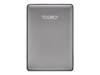 HGST 1TB Touro S USB 3.0 Ultra-Portable Hard Drive - Platinum, 0S03694