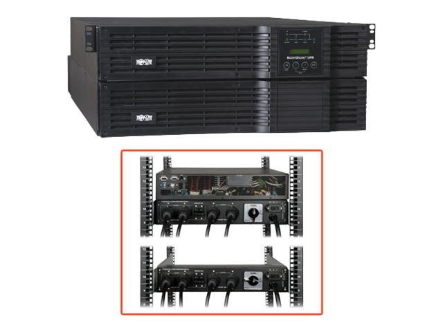 Tripp Lite 5000VA UPS Smart Online Rack Tower 5kVA 120-240V for Blade Server, SU5000RT4U, 6606265, Battery Backup/UPS