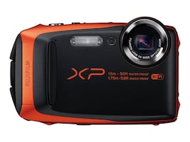 Fujifilm FinePix XP90 Waterproof WiFi Camera, 16.4MP, 5x Zoom, Orange, 16500337, 31271583, Cameras - Digital
