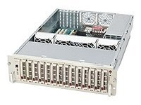 Supermicro Chassis, 3U Rackmount, Dual Xeon, EATX, 14 HP SCA, 760W TRPS, Black, CSE-932S2-R760B, 6459146, Cases - Systems/Servers