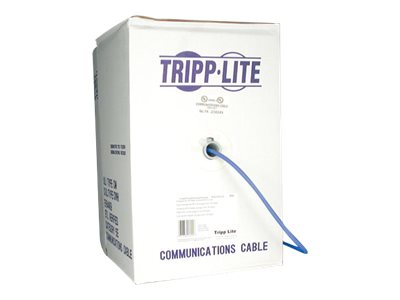 Tripp Lite Cat6 Gigabit Bulk Solid PVC Cable, Blue, 1000ft, N222-01K-BL, 5653027, Cables