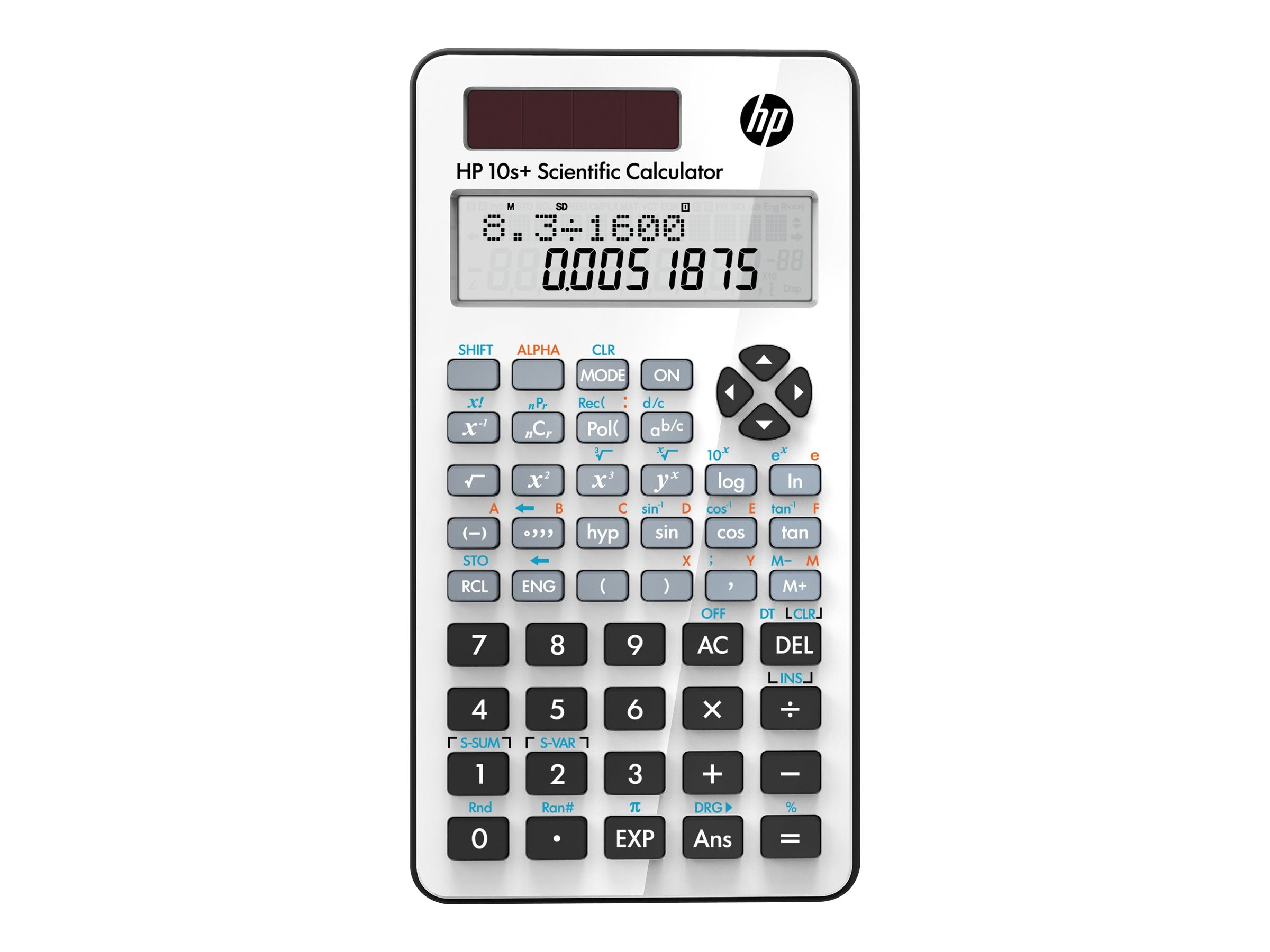 HP 10s+ Scientific Calculator, White, NW276AA#ABA, 15237561, Calculators