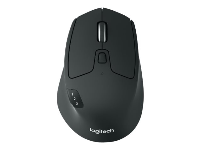 Logitech M720 Triathlon Multi-Device Wireless Mouse, Black