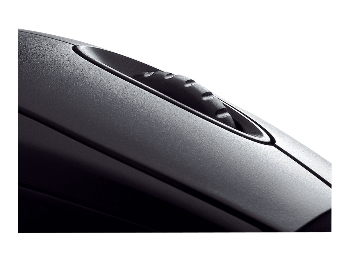Cherry Black Optical Mouse with Scroll Wheel PS 2 USB Connectors, M-5450