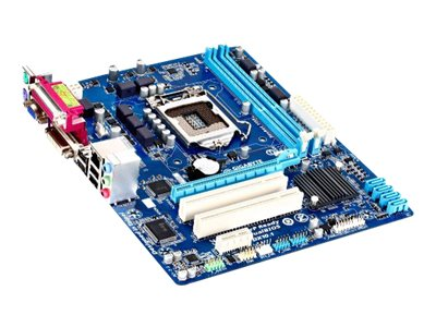Gigabyte Tech Motherboard, Intel H61, LGA1155, MATX, Max 16GB DDR3, PCIEX16, PCIEX, 2PCI, GBE, Video, Audio, SATA, GA-H61M-S2PV