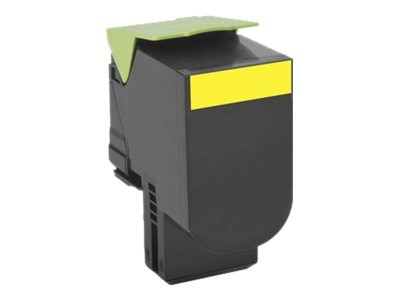 Lexmark 800X4 Yellow Extra High Yield Toner Cartridge, 80C0X40