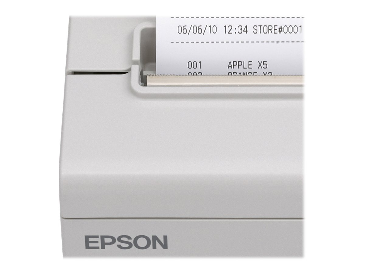 Epson TM-T88V USB Parallel POS Printer - Cool White w  PS180 Power Supply, C31CA85814