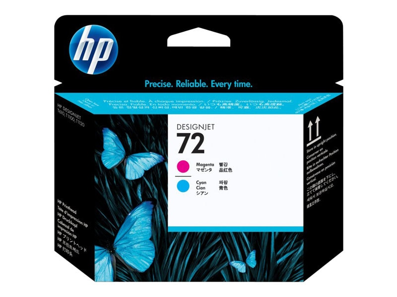 HP 72 Magenta and Cyan Printhead, C9383A, 7624764, Printer Accessories