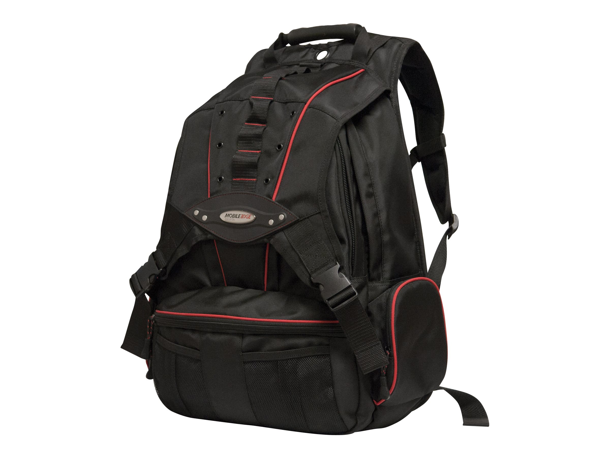 Mobile Edge 17.3 Premium Backpack Black Red, MEBPP7, 15778325, Carrying Cases - Notebook