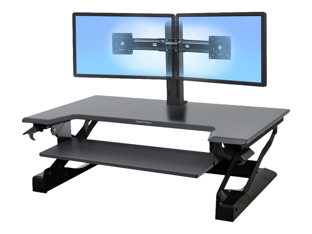 Ergotron WorkFit-TL Sit-Stand Desktop Workstation, Black, TAA, 33-418-085
