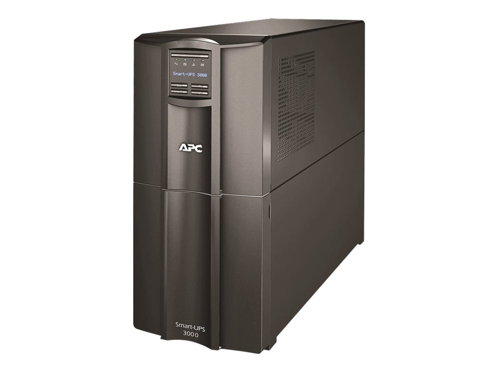 APC Smart-UPS 3000VA 2700W LCD 230V Tower UPS Intl (1) C19 (8) C13 Outlets, SMT3000I, 11951071, Battery Backup/UPS