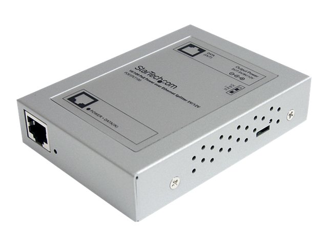 StarTech.com 10 100 PoE Power-over-Ethernet Splitter 5V 12V