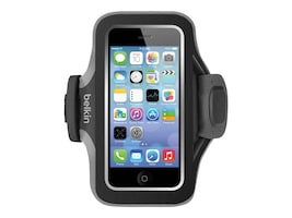 Belkin Slim-Fit Plus Armband for iPhone 5 5s 5c & iPhone SE, Blacktop Gravel, F8W299BTC00, 32660265, Carrying Cases - Phones/PDAs
