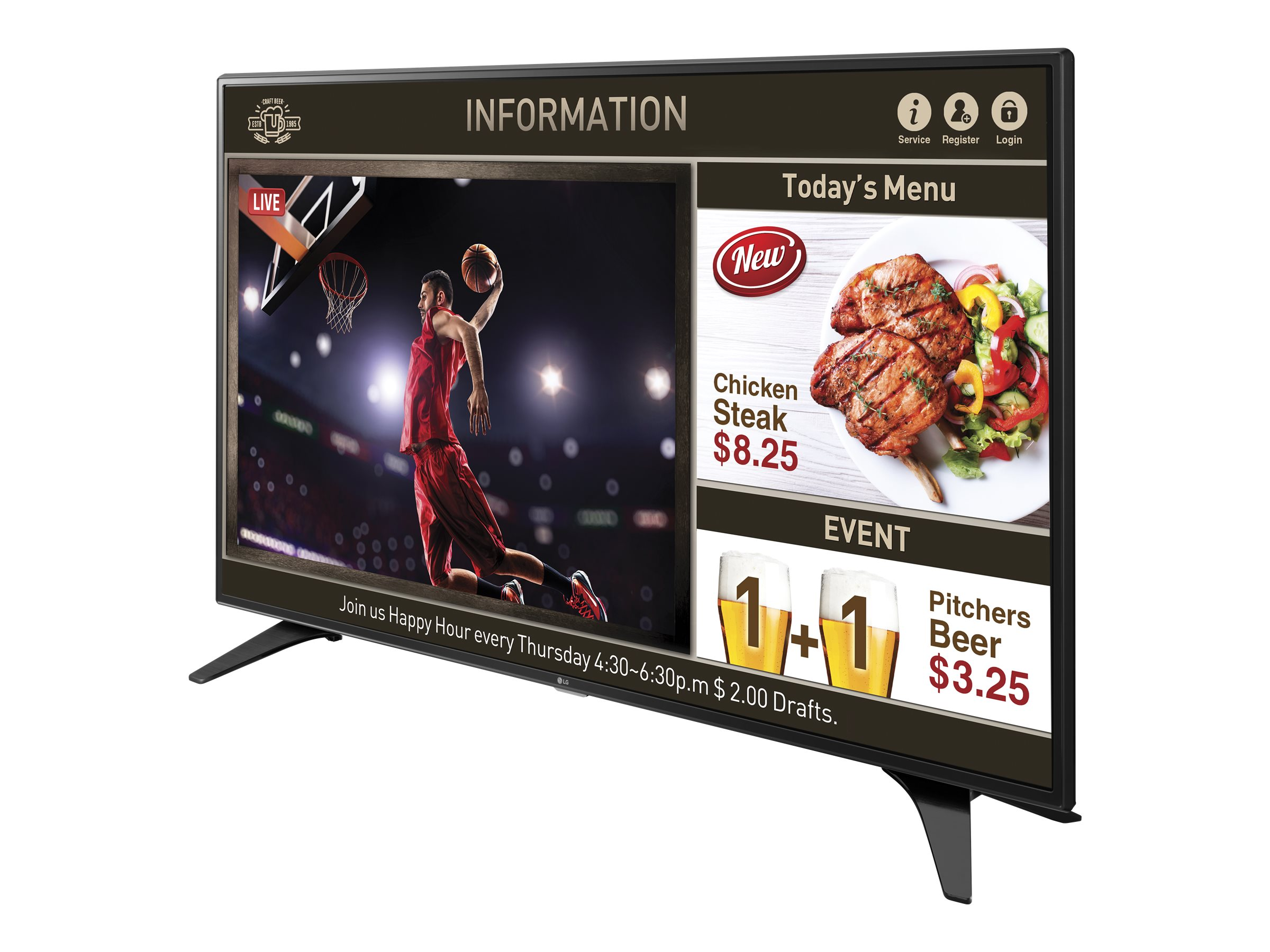 LG 55 LW540S Full HD LED-LCD TV, Black, 55LW540S