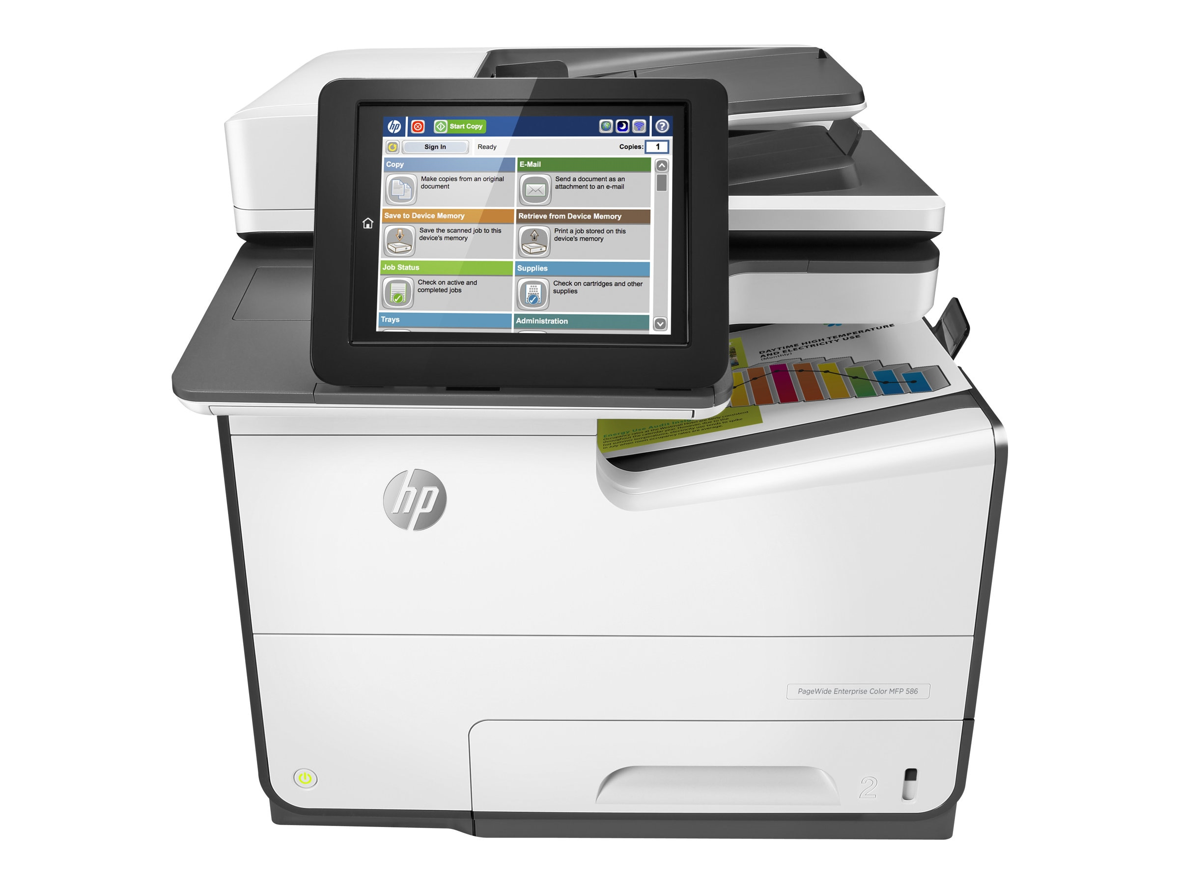 HP PageWide Enterprise Color MFP 586dn ($1,999 - $600 Instant Rebate = $$1,399 Expires 02 28), G1W39A#BGJ