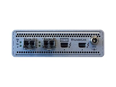 Quantum Atto Technology 2-Port 20Gbs Thunderbolt FC Adapter, HAABB-AATT-162A, 30994448, Host Bus Adapters (HBAs)