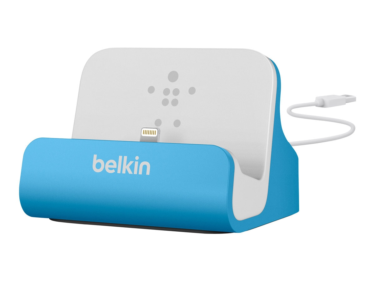 Belkin MIXIT ChargeSync Dock for iPhone 5, Blue, F8J045BTBLU