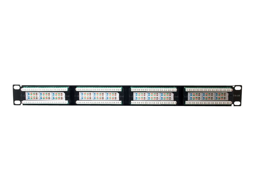 C2G 24-port patch panel CAT5e 110-type, 03852