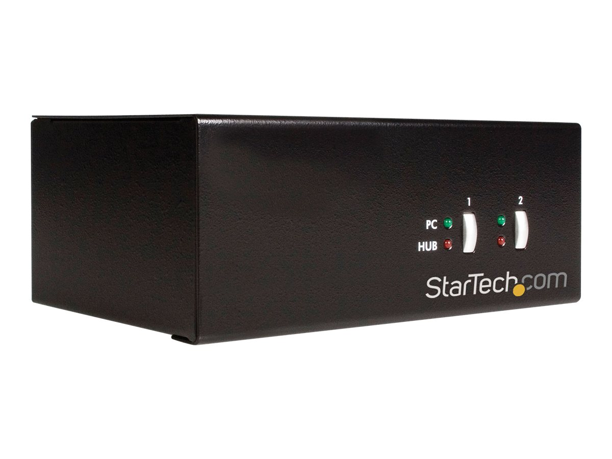 StarTech.com 2-Port StarView DVI VGA USB KVM Switch with Audio, SV231DDUSB, 8441927, KVM Switches