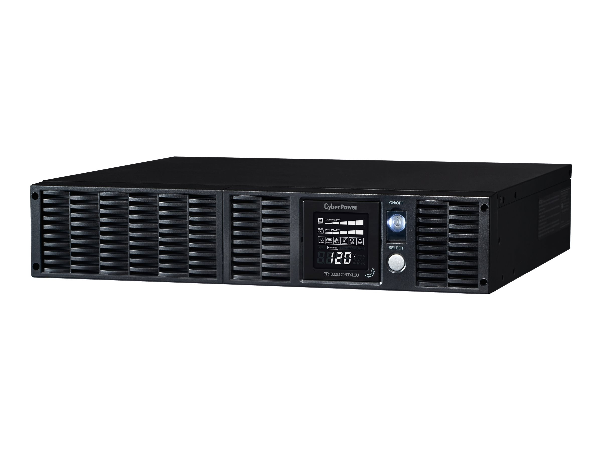 CyberPower 1000VA 700W Smart App Sinewave LCD XL UPS 2U RM Tower AVR 8 Outlets, PR1000LCDRTXL2U, 8875160, Battery Backup/UPS