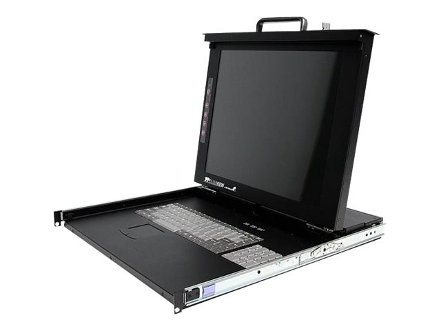 StarTech.com DuraView 17 Folding LCD Rack Console with 8-Port Multi-Platform KVM, RACKCONS1708