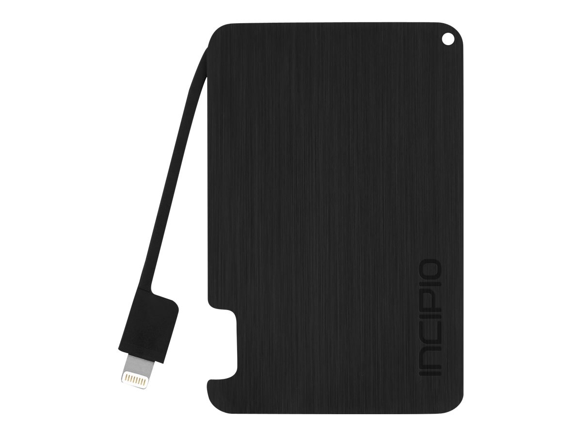 Incipio offGRID 1500mAh Backup Battery w  Lightning Cable, Black, PW-243-BLK