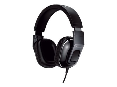Panasonic StreetBand Monitor Headset w  Remote & Mic for Apple - Glossy Black, RP-HT480C-K, 21016781, Headsets (w/ microphone)