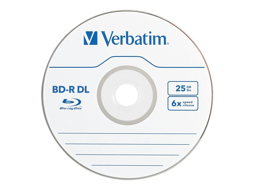 Verbatim 6x 50GB Branded BD-R DL Media (3-pack Jewel Csse Box), 97237