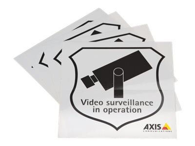 Axis Surveillance Stickers (10-pack), 5502-811, 13926099, Paper, Labels & Other Print Media