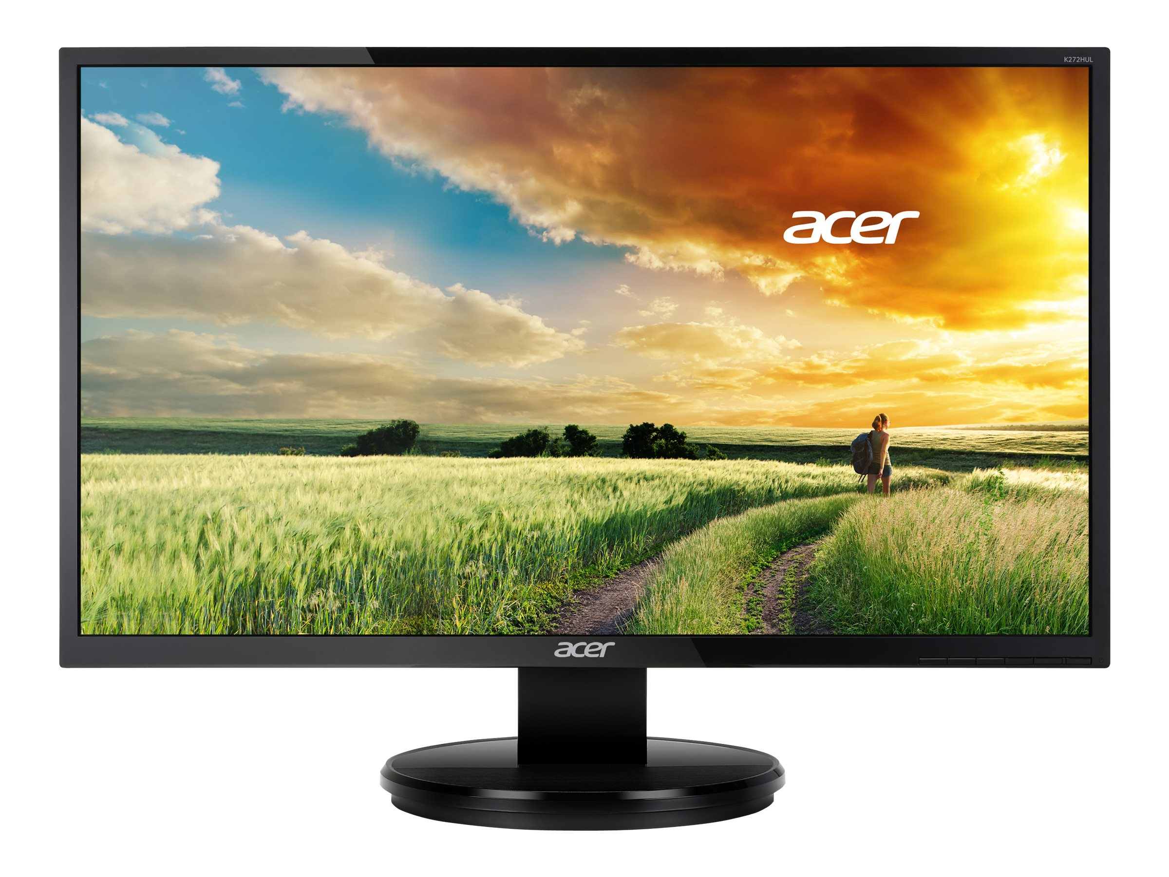 Acer 27 K272HUL bmiidp Quad HD LED-LCD Monitor, Black, UM.HX2AA.001, 18105804, Monitors - LED-LCD