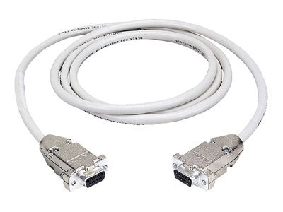 Black Box DB9 Serial Null-Modem Cable, M-F, Beige, 50ft.
