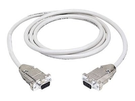 Black Box DB9 Serial Null-Modem Cable, Male To Female 6ft, EYN257T-0006-MF, 6670110, Cables