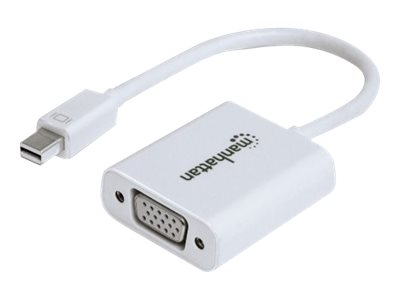 Manhattan Mini DisplayPort to VGA M F Adapter, White, 151382, 30877591, Cables