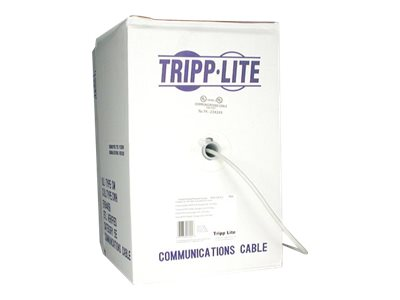 Tripp Lite Cat5e 350MHz Bulk Solid-Core PVC Cable, Gray, 1000ft, N022-01K-GY, 169028, Cables