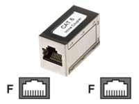 Intellinet CAT6 RJ-45 F F Inline Keystone Coupler, Silver, 505130, 17565788, Cable Accessories