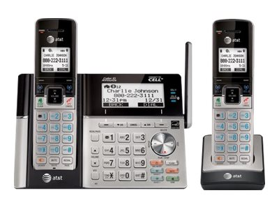 AT&T TL96273 DECT 6.0 Expandable BTCordless Phone w  (2) Handsets, TL96273